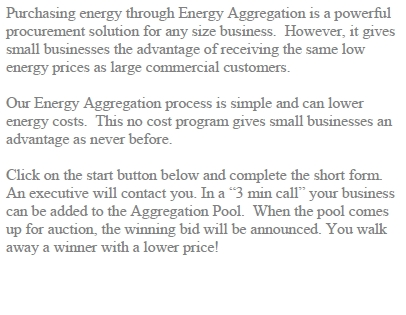 Commercial Energy Aggregation